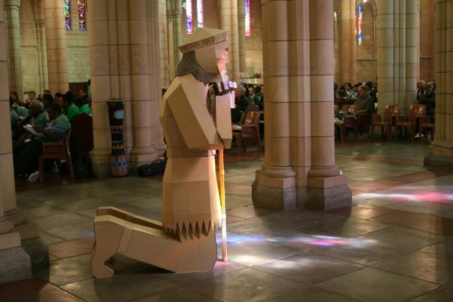 Wistful warrior (in St. John's Cathedral)