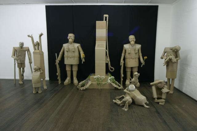 Installation  Layout  cardboard sculpture