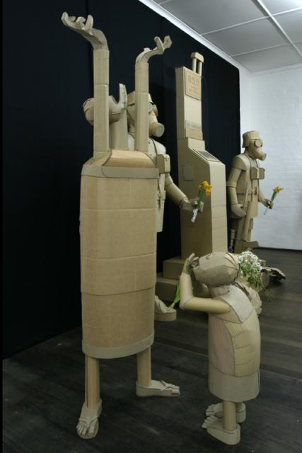 Lost Waif and Woman  cardboard sculpture