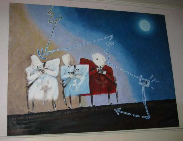 Night Crusaders - acrylic - 1997