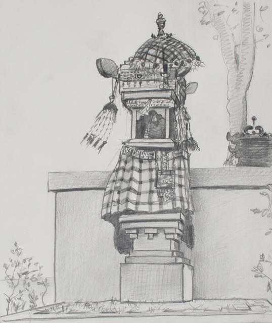 Shrine 1 in Lombok pencil